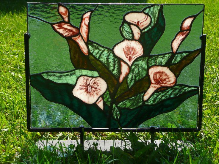 `Vitrail décoratif peint à la main
