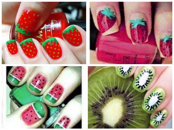 https://www.facebook.com/leovandesign #nailpolish #manicure #pedicure #polish #design#Fruits #nail #strawberries #kiwi #watermelon