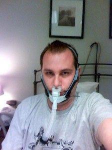 Patient with Sleep Apnea - See more sleep apnea tips at StopSnoringPlease.com