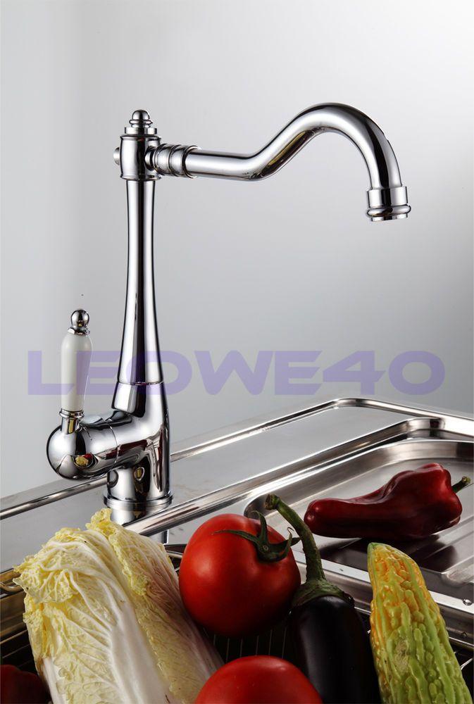 Traditional Monobloc Single Lever Kitchen Tap Mixer Faucet 7040