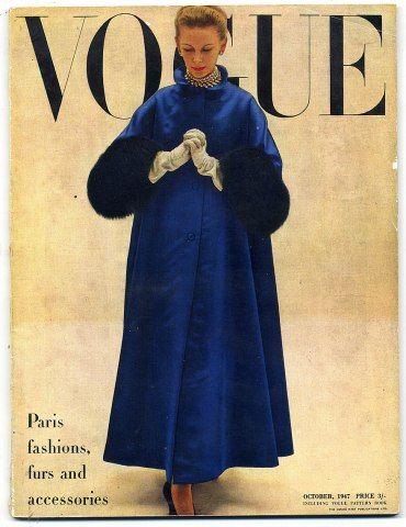 British Vogue October 1947 Penn cover