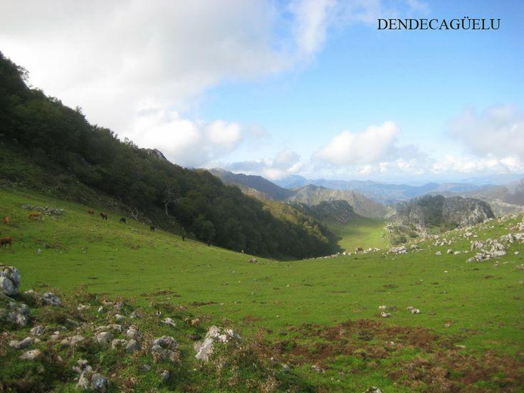Collada Rebollada, Natuurpark Ponga, in december, Asturias