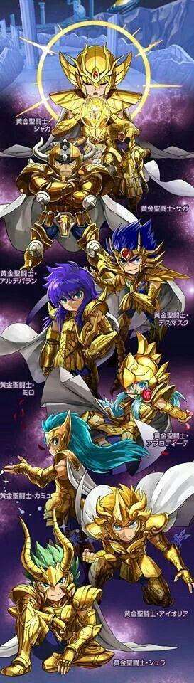 Saint Seiya Gold Saint Chibis
