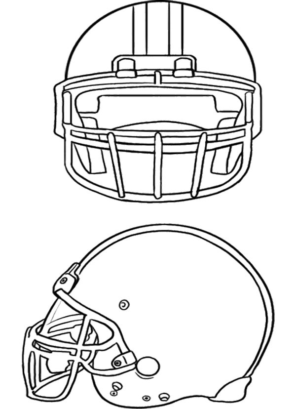two football helmet coloring page