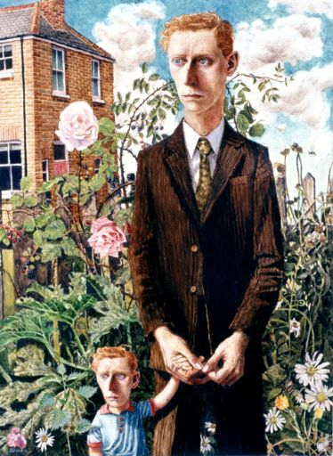 Young Maurice And His Father (2000) Stuart Pearson Wright #StuartPearsonWright #Art #BritArt #BritishArt #BritishContemporaryArt #ContemporaryArt #FrankCohen #FrankCohenCollection #Fortnums #FortnumAndMason #FORTNUMSXFRANK