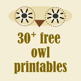 30+ free owl printables – owl freebie round-up