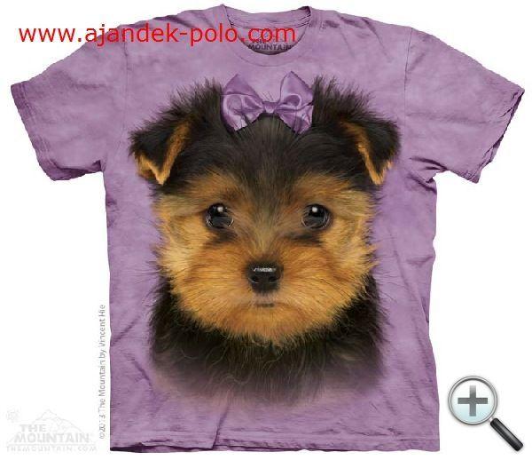 1-2 nap alatt kiszállítható YORKSHIRE TERRIER kölyök kutya gyermek The Mountain póló L méret.