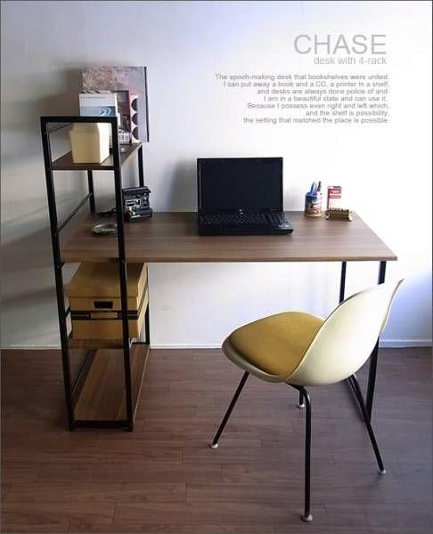 Nordic Desk ラック付きデスク 木製レトロシンプル本棚モダン北欧カリモク インテリア 雑貨 家具 Modern ¥18800yen 〆05月21日