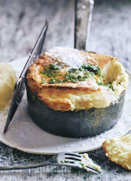 roasted garlic + potato soufflé | Donna Hay