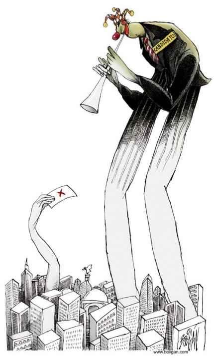 «Charmeur de votes», Angel Boligán Corbo