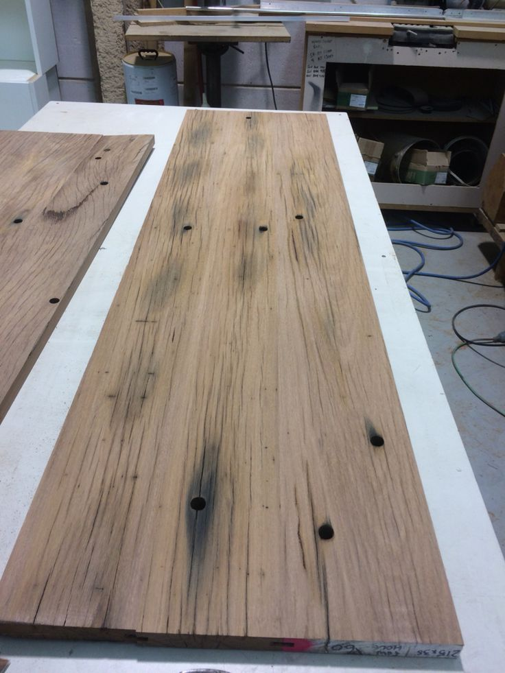 Recycled Blackbutt bench top. Made by Concepts Created