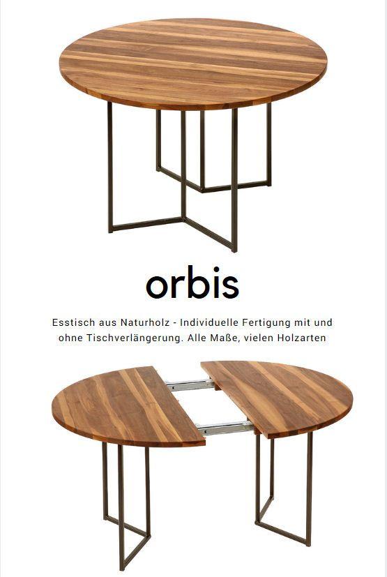 runder esstisch aus massivem naturholz modell orbis hergestellt von cheops wohnnatur