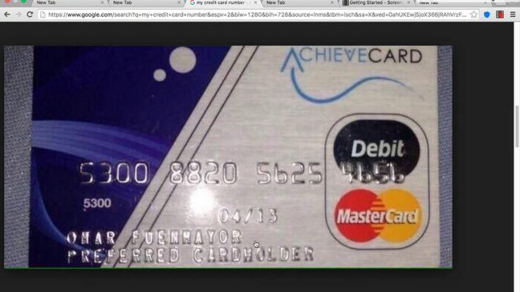 A real credit card number credit card numbers visa card