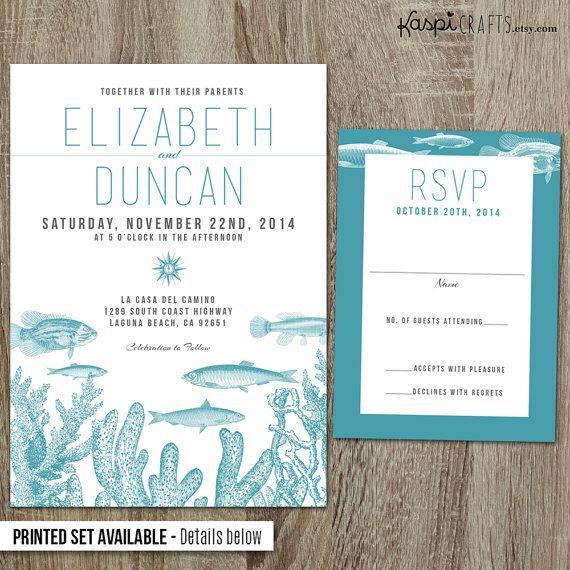 Marine Wedding Invitation Nautical Printed By Karafts 25 00