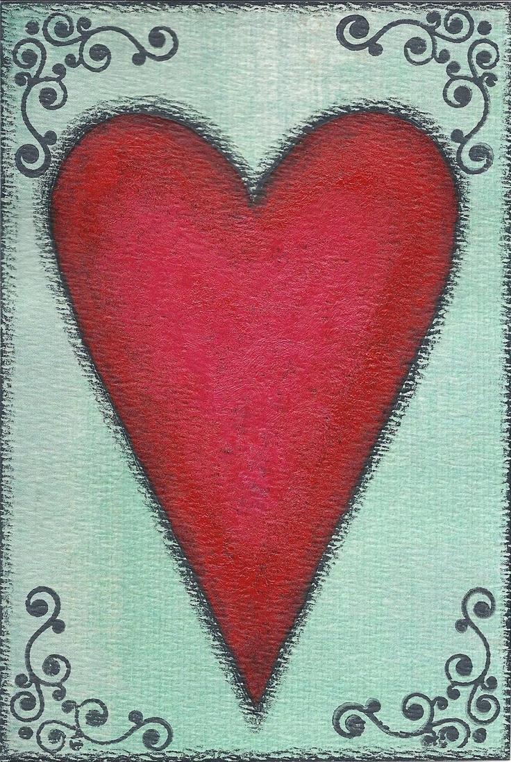 Free clip-art: folk art #heart