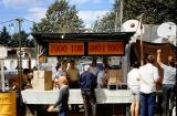 Barbershop hot dog stand
