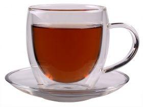 """Feelino edle doppelwandige Glas-Teetasse """"Bullini"""" 250ml mit ..."""
