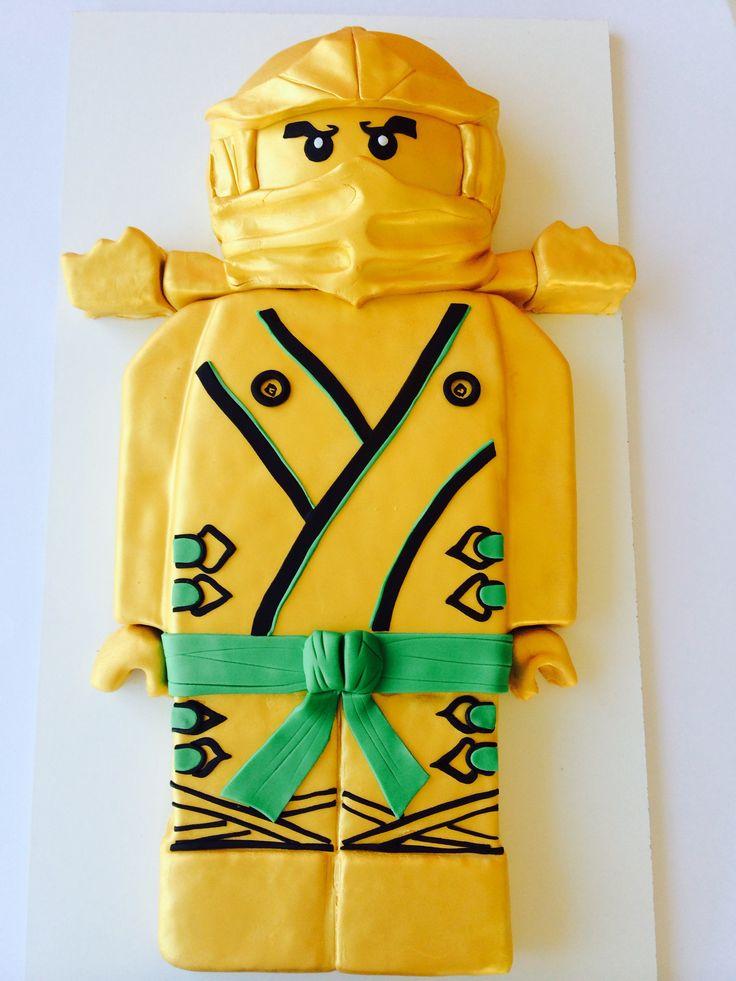 Golden Ninjago cake
