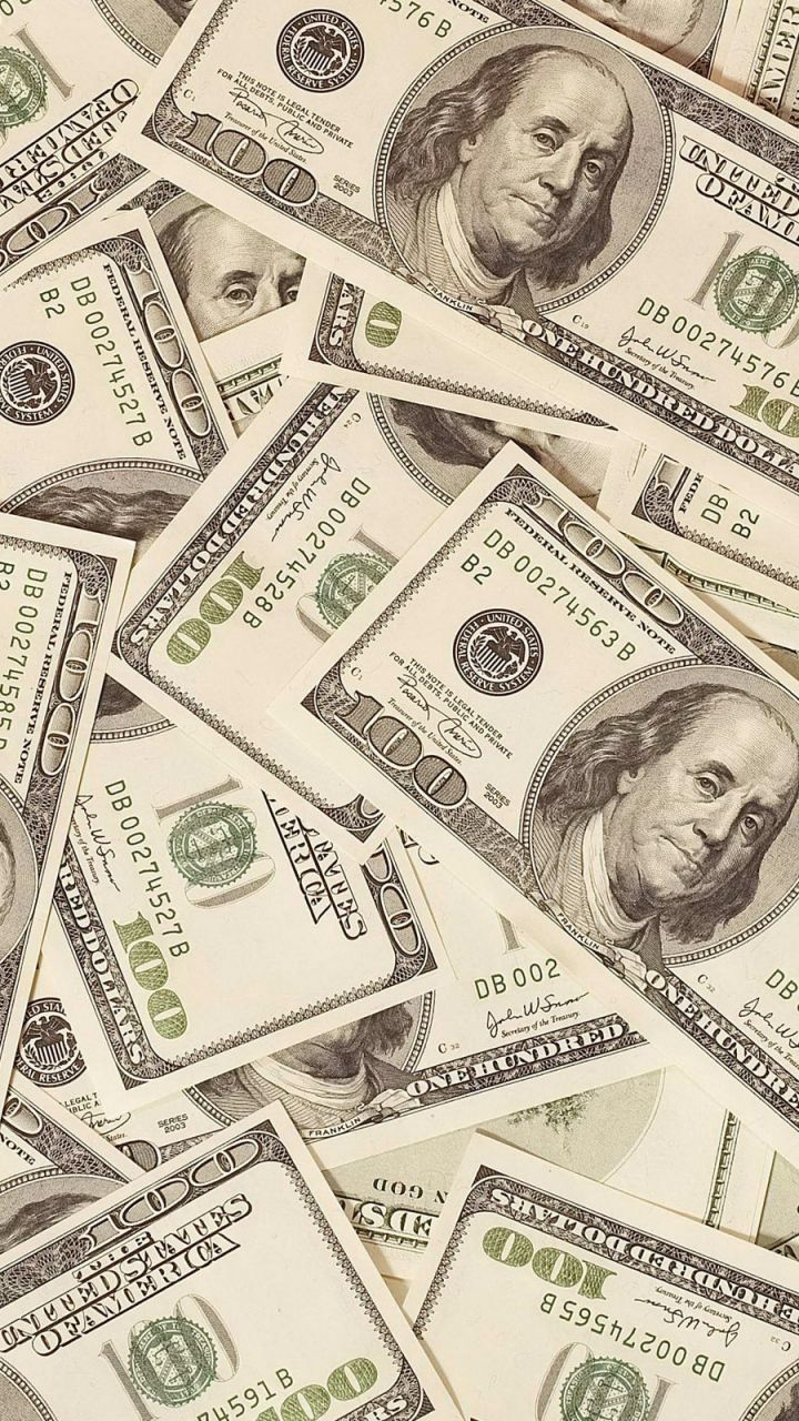 720x1280 Wallpaper money, dollars, bills, background, surface