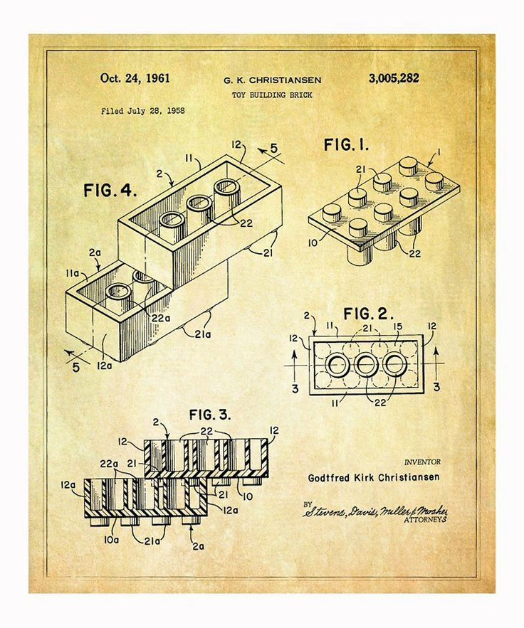 65 best diagrammanualinstructable images on pinterest drawings lego toy building brick 1961 art print malvernweather Image collections