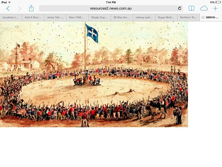 Eureka stockade is a famous moment in Australian history.