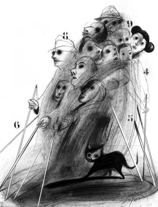 Ilustración de Luis Scafati para Informe sobre ciego