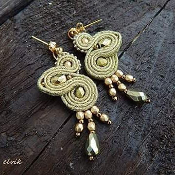 Goldie earrings #sutasz #soutache #earrings #kolczyki #gold #handmade #rekodzielo #jewelry #bijoux #orecchini #fashiongram #fashion #madeinpoland