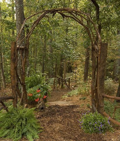 """KeepStringLights: Woodland arch. I need this for """"White Tail Trail"""" named afte.."""