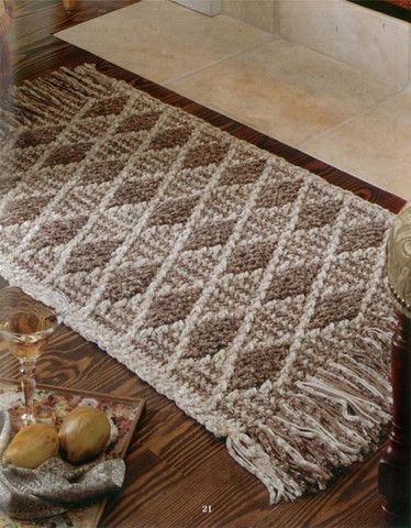 96 best images about crochet floor rugs on pinterest for Floor knitting