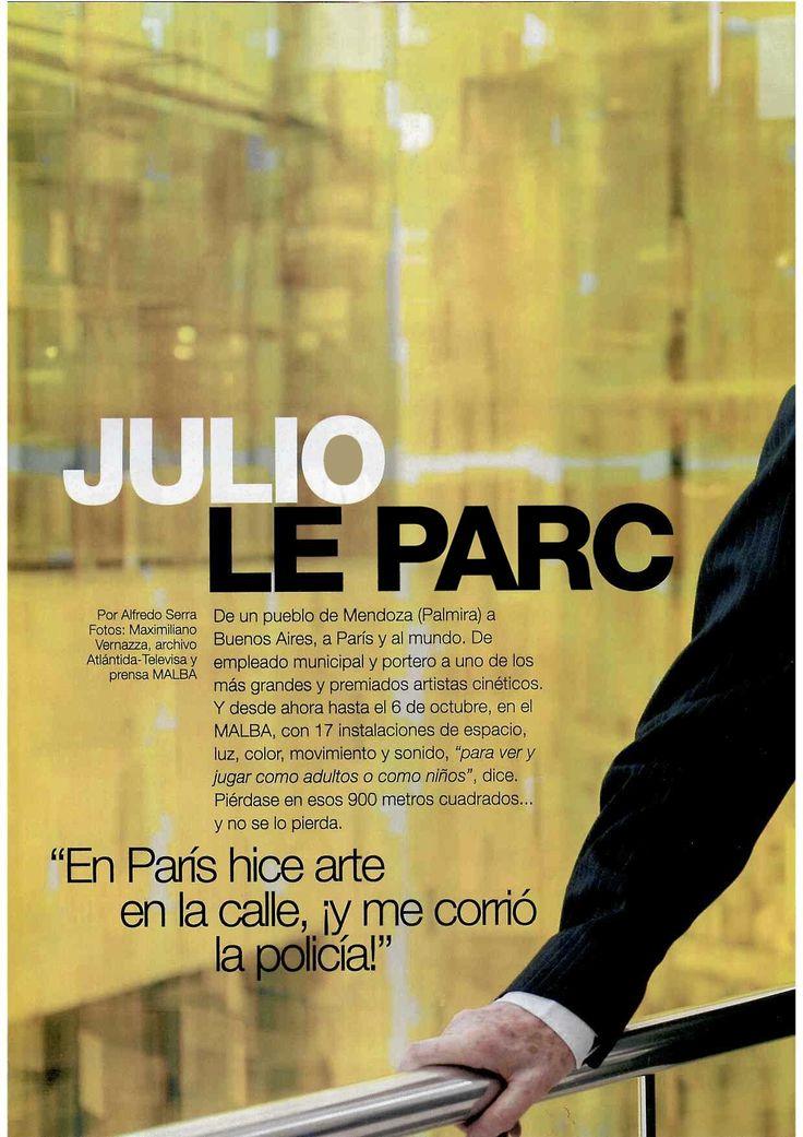 Medio : Revista Gente Entrevista con el gran artista argentino que presenta en el Malba su retrospectiva Le Parc Lumière. — en Malba - Fundación Costantini.
