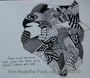 Drawing by KRF on creative influences blogspot