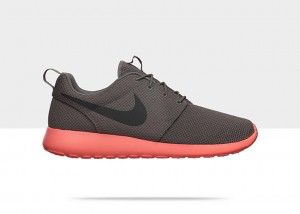Nike Roshe Run Heren Grijs Donkergrijs Koraal Oranje Schoenen kopen. Factory Store Belgie