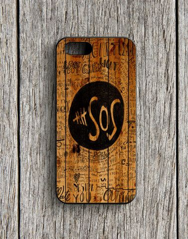 5 Second Of Summer Fans Quotes On Wood iPhone 5 | 5S Case