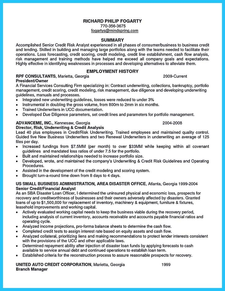 awesome cool credit analyst resume example from professional check more at http