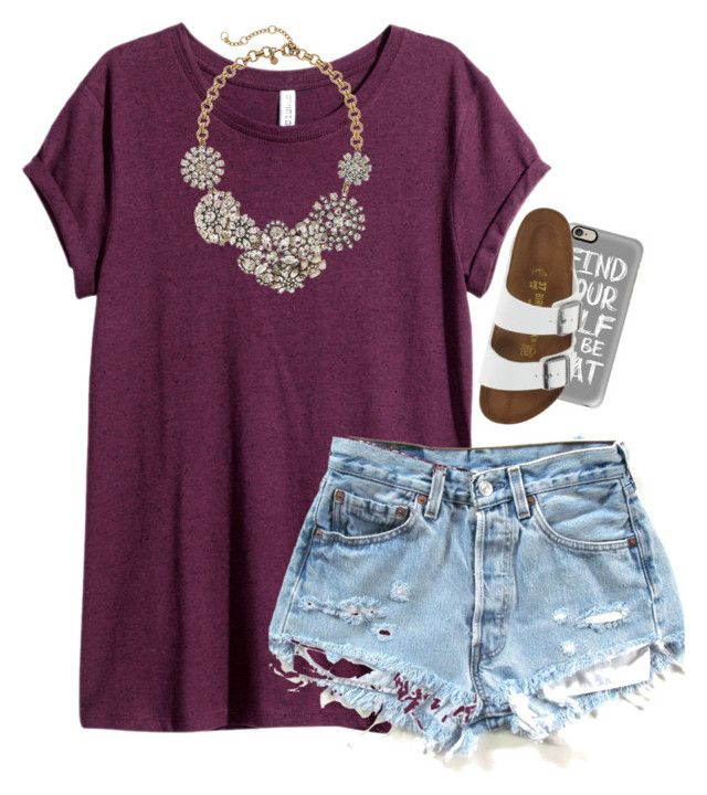 """""""maybe just maybe"""" by lydiamorrison ❤ liked on Polyvore featuring H&M, Casetify, Birkenstock and J.Crew"""