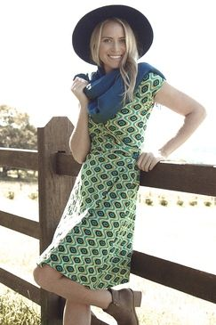 Amelia Wrap Dress Affro Green