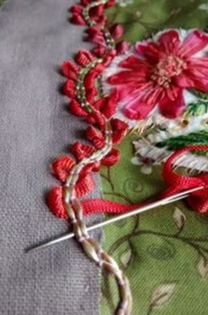 ♒ Enchanting Embroidery ♒ embroidered floral border