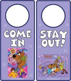 Free Printable Scooby Girl Door Hangers Door Hangers