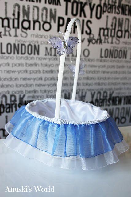 Cesta arras mariposas azul eléctrico - Anuski´s World