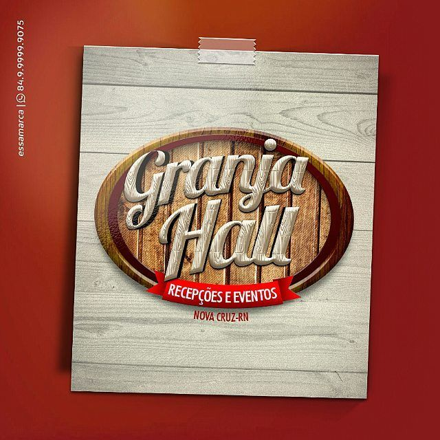 Prontinho!!! Saca só como ficou o logo da casa de shows Granja Hall. Agora vamos dar aquele up na sua. Vem conosco vem com #essamarca  #logo #brand #show #eventos #buffet #logotipo #logomarca #marca #propaganda #publicidade #ad #advertising #hall #design #inspire #work #like #friends ##cool #nice #great #festa #forro #party #house #diversao