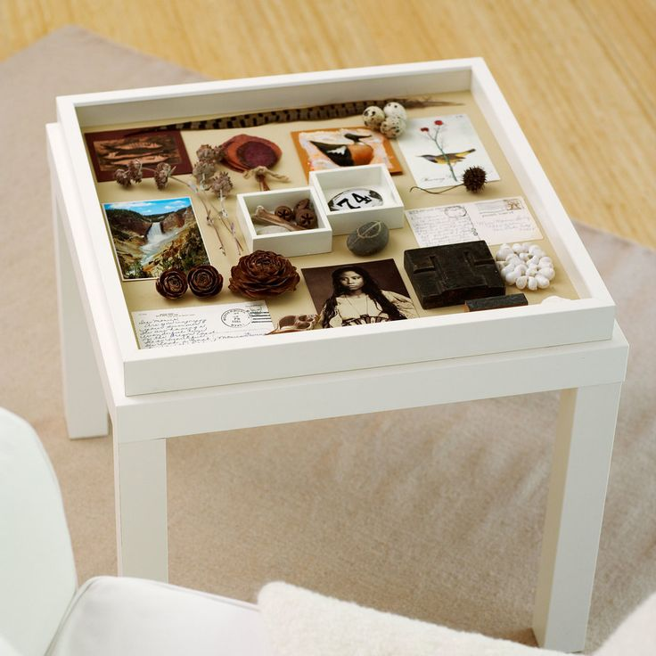 Turn a basic side table and a picture frame into a living-room accent worth remembering