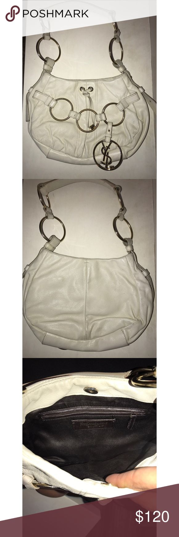 White Leather Yves Saint Laurent Purse Great condition YSL White leather purse! Yves Saint Laurent Bags Shoulder Bags