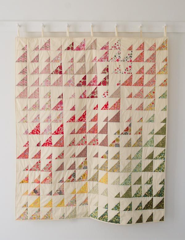 This would be a pretty quilt to make with button down shirts as a memory quilt.