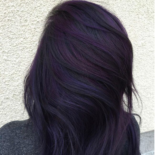 25 Trendy Black And Purple Hair Ideas That You Should Give A Try