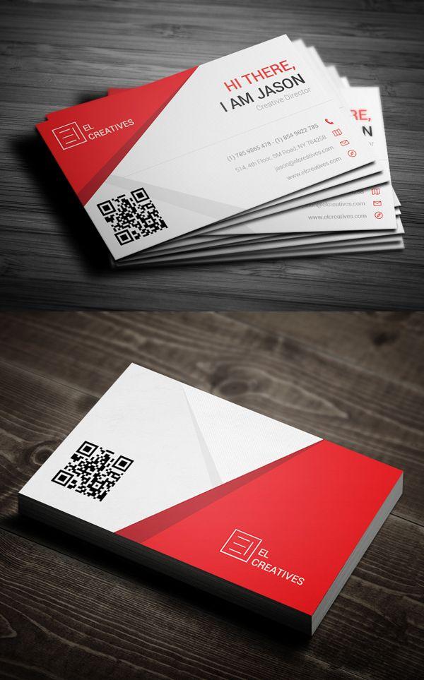 Creative Red Business Card #businesscards #psdtemplate #printready #businesscardtemplate