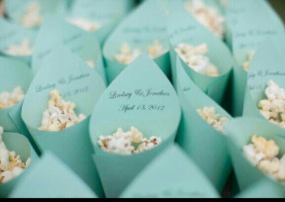 popcorn wedding favors