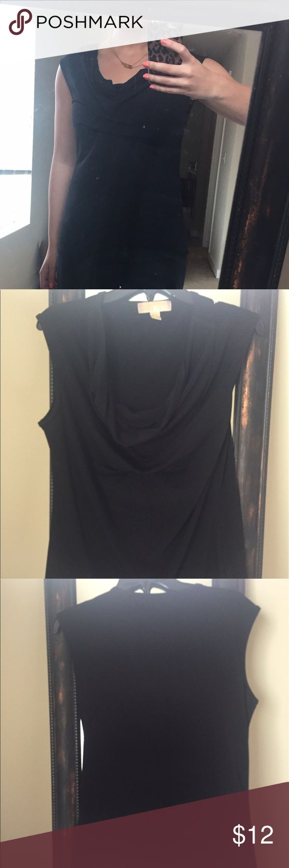 Michael Kors black sleeveless cowl neck top Black Michael Kors business work top. Works perfect with jeans, blazer and trousers. Only worn once. Michael Kors Tops Button Down Shirts