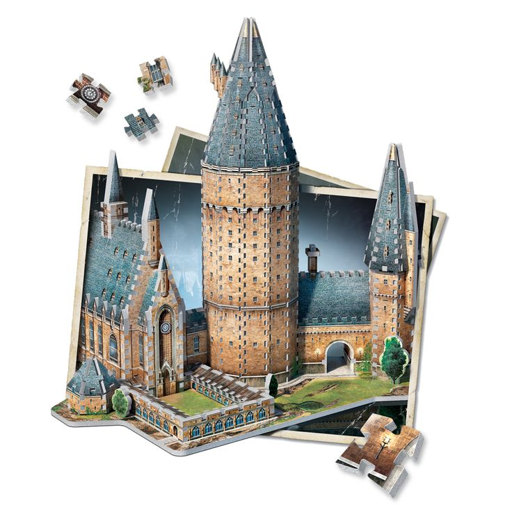 The magic is at your fingertips! Bring to life your favourite School of Witchcraft and Wizardry with Hogwarts - Great Hall, an 850 pieces 3D puzzle from Wrebbit 3D. You'll find many well-known locations from Harry Potter like the Great Hall, the Headmaster's office and many more. Combine Hogwarts - Great Hall with Hogwarts - Astronomy Tower and get a 3D puzzle of 1,725 pieces.