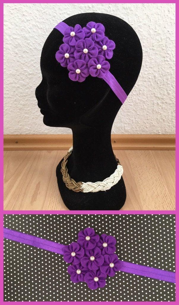 purple headband,Felt flower headbandbaby headbands, infant headbands, newborn headbands, toddler headbands headband baby, baby girl headband by LilVeniceBowtique on Etsy