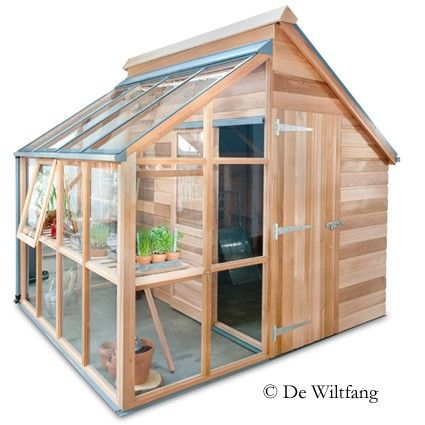 Green house shed! THIS on the goat building with room for the mowers.